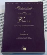 Lescat/saint-arroman - Methodes Et Traites Violon Vol.3 Serie I, France 1600-1800 - Fac-simile