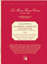 Devienne F. - Quatrieme Symphonie Concertante 1789 - Flute, Hautbois, Cor, Basson - Fac-simile