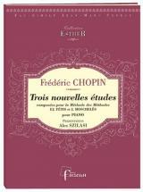 Chopin F. - Trois Nouvelles Etudes Composees Pour La Methode Des Methodes - Fac-simile Fuzeau