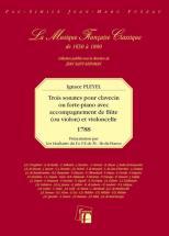 Pleyel I. - Trois Sonates Pour Clavecin Ou Piano Forte Avec Accompagnement De Flute Et Violoncelle