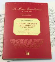 Braun J.d. - Six Sonates Pour Deux Bassons Ou Deux Basses - Fac-simile Fuzeau