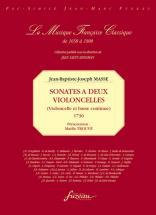Masse J.b.j. - Sonates A Deux Violoncelles (vlc, Bc) - Fac-simile Fuzeau
