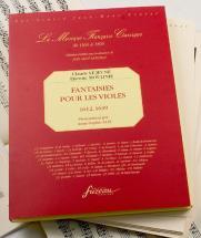 Lejeune C./moulinie E. - Fantaisies Pour Les Violes - Fac-simile Fuzeau