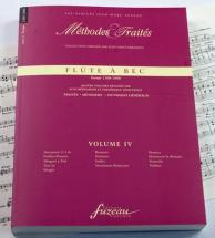 Mohlmeier S./thouvenot F. - Methodes Et Traites Flute A Bec Vol.4, Serie Iii Europe - Fac-simile