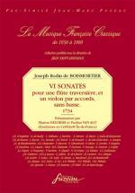 Boismortier J. Bodin De - Vi Sonates Pour Une Flute Traversiere Et Un Violon Par Accords, Sans Basse