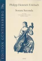 Erlebach Ph. H. - Sonata Secunda Mi Mineur - Violon, Vdg (v.) Et Bc