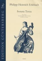 Erlebach Ph. H. - Sonata Terza La Majeur - Violon, Vdg (v.) Et Bc