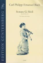 Bach C.p.e. - Sonata In G Minor - Violon Et Clavecin