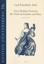Abel Carl Friedrich - Zwei Berliner Sonaten Für Viola Da Gamba Und Bass