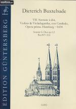 Buxtehude - Vii Suonate, Opera Prima, 1694 : Sonata G-dur Op 1,2, Buxwv253