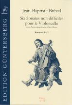 Breval J. B. - Six Sonates Non Difficiles Op. 40 Vol. 1 - Violoncelle Et Bc