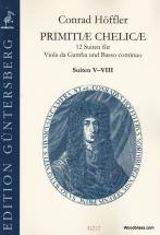 Hoffler C. - Primitiae Chelicae, Suite V-viii - Viole De Gambe Et Bc
