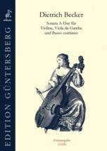 Becker Dietrich - Sonata A-dur - Violon, Viole De Gambe and B.c