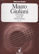 Giuliani Mauro - 24 Etudes Op.48 (hans Ritter)