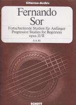 Sor Fernando - 24 Progressive Studies For Beginners Op.31/ii