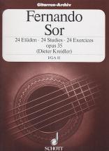Sor Fernando - 24 Etudes Op.35 Vol.1 Guitare