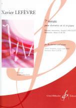 Lefevre Xavier - Sonate N° 7 - Clarinette Sib, Piano