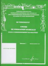 Vergnault Michel - Cours De Formation Musicale Debutant 1
