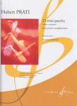 Prati Hubert - 23 Mini-puzzles (etudes) - Saxophone