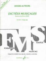 Jollet Jean-clement - Dictees Musicales Vol.1 - Livre Du Professeur