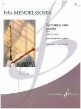 Mendelssohn-bartholdy F. - Romances Sans Paroles Op.30 Vol.2 - Hautbois, Piano