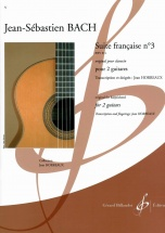 Bach J.s.- Suite Francaise N°3 Bwv 814 - Guitare