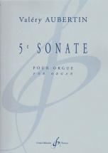 Aubertin Valery - 5e Sonate Pour Orgue