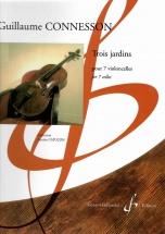 Connesson Guillaume - Trois Jardins - 7 Violoncelles