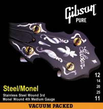 Gibson .012-.025 Banjo / Steel Wound 3rd Monel Wound 4th Natural