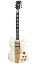 Gibson 1963 Les Paul Sg Custom Reissue 3-pickup W/ Maestro Vos Classic White