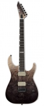 Esp E-ii M-ii Burled Maple Hipshot Black Natural Fade