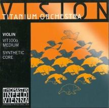 Thomastik Cordes Violon Vision Titanium Orchestra Noyau Synthetique Moyen Vit100o