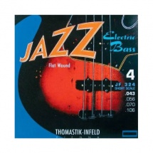 Thomastik Cordes Infeld Guitare Electrique Jazz Bass Serie Nickel Flat Wound Roundcore Jeu 4 Cordes