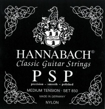 Hannabach Cordes Guitare Classique Serie 850 Medium Tension Psp 3 Basses Medium