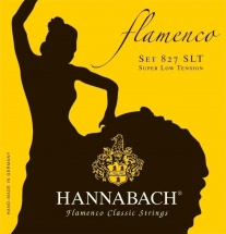 Hannabach Cordes De Guitare Classique Serie 827 Super Low Tension Flamenco Classic Mi1