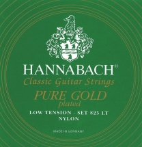 Hannabach Cordes Guitare Classique Serie 825 Low Tension Special Gold Jeu De 3 Basses Low