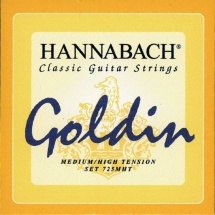 Hannabach Cordes Guitare Classique Serie 725 Medium/high Tension Goldin Re4
