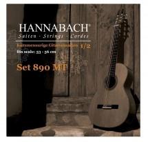 Hannabach Cordes Guitare Classique Serie 890 Guitare Enfant 1/2 Diapason: 53-56cm Sol3