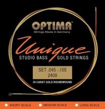 Optima Cordes Pour Basses Electriques Unique Studio Gold Strings Jeu