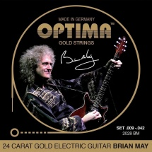 Optima Cordes Pour Guitares Electriques Gold Strings Round Wound Jeu