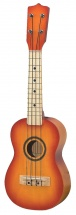 Gewa Ukulele Soprano Sunburst Yellow-red