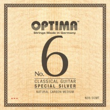 Optima Cordes Guitare Classique No. 6 Special Silver, Argent Special Set Carbon Medium