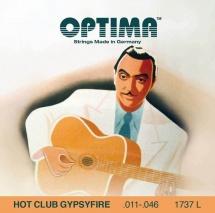 Optima Cordes Pour Guitares Acoustiques Hot Club Gypsyfire Argentee Jeu