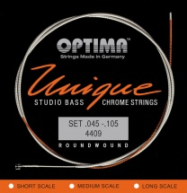 Optima Cordes Pour Basses Electriques Unique Studio Chrome Strings Jeu