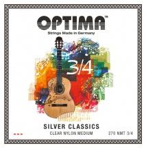 Optima Cordes Guitare Classique Silver Classics Cordes De Guitare Pour Enfants Jeu 3/4