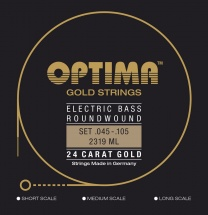 Optima Cordes Pour Basses Electriques Gold Strings Round Wound Jeu