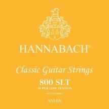 Hannabach Cordes Guitare Classique Serie 800 Super Low Tension Argentee Jeu De 3 Aigües