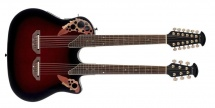 Ovation Elite Double Neck Super Shallow Ruby Red Burst