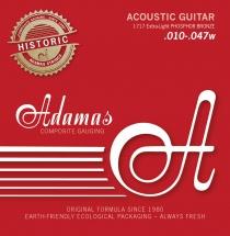 Adamas Cordes Pour Guitares Acoustiques Phosphor Bronze Reedition Historique Extra Light .010-.047