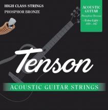 Gewa Corde Guitare Acoustique Cordes Guitare Acoustique Tenson Phosphor Bronze .012-.053, Light